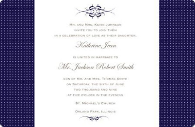 blue white wedding invitations design