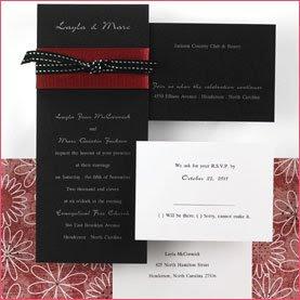contrast wedding invitations