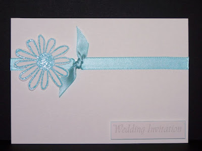 Handmade Wedding Invitations This wedding invitation likely made by the