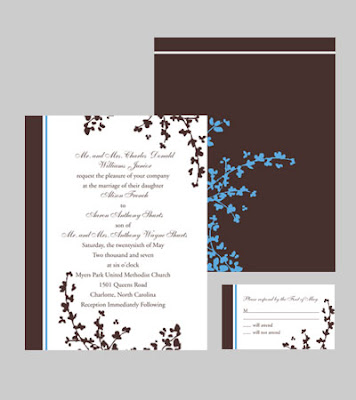 Flower Ornaments Wedding Invitations