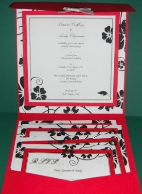 red wedding invitations cards