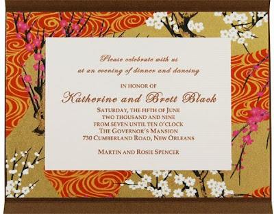 Wedding Invitations With Noisy Flower Ornamental Design