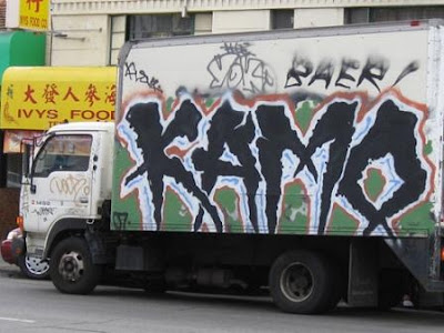 Wild Style Graffiti Alphabet On The Truck!