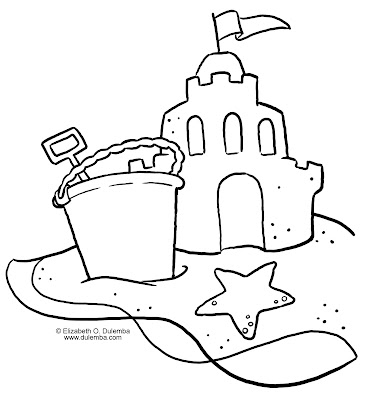 Sandcastle coloring pages