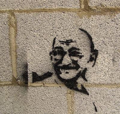 gandhi graffiti stencil