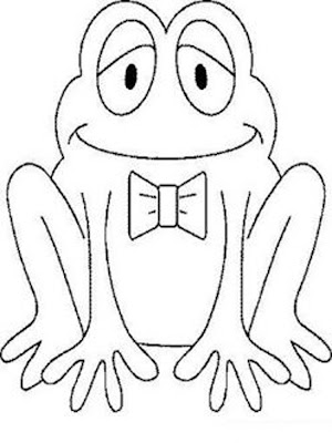 preschool coloring pages frog