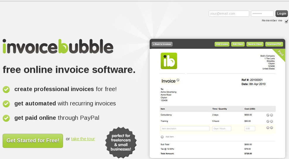Invoice Bubble A Simple Invoicing Solution - How to create and invoice for service business