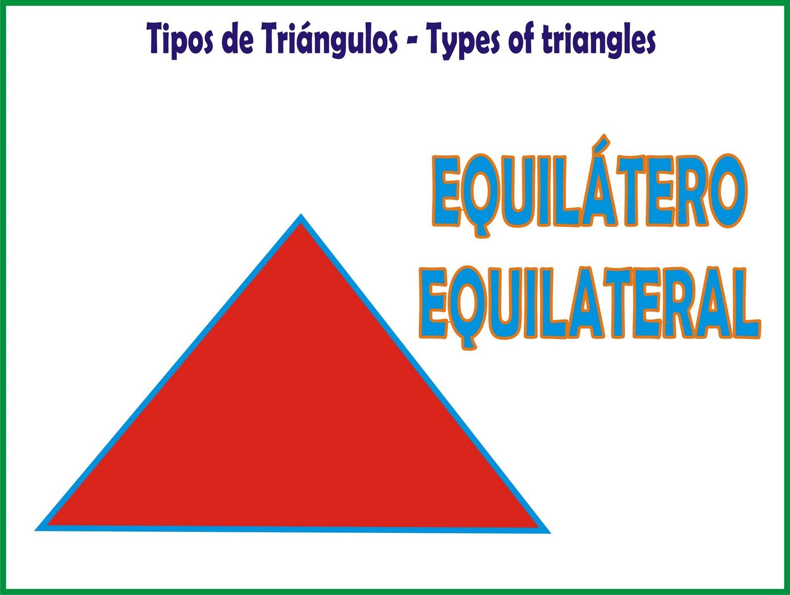 TIPOS DE TRIÁNGULOS - TYPES OF TRIANGLES