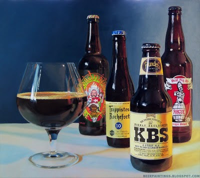 Founders KBS painting beer art