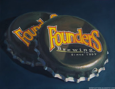 Founders Brewing crown painting