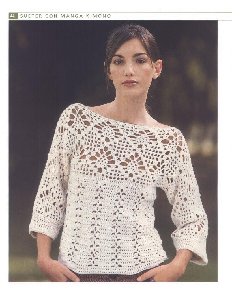 Patrones De Blusas a Crochet