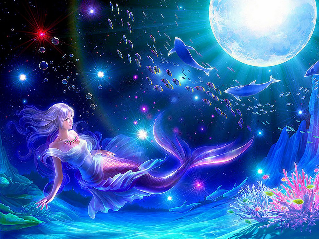 Beauty Fantasy Mermaid Fairy Background Wallpapers | Fairy Background ...
