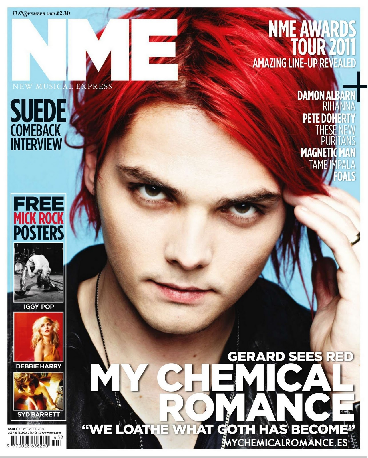 mcr red hair