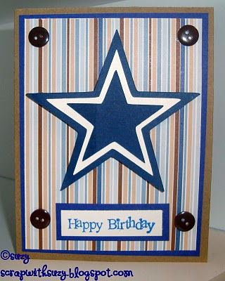 Papercraft star july 2010 suzy made a birthday card for her brother who is a dallas cowboy fan she used her circut to make cut the stars 2 different sizes in navy and one in bookmarktalkfo Gallery