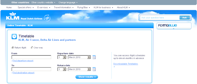 Www.klm.com - Flight Timetable & Schedule - KLM Airlines Flight Status