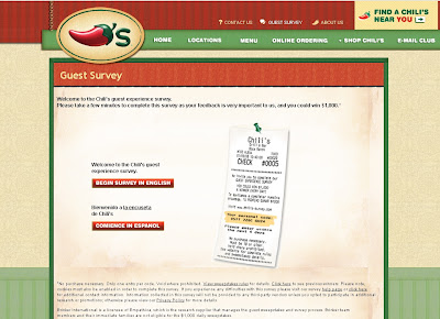 www.chilis-survey.com - Chili's Restaurant Guest Survey