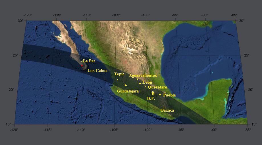 Resultado de imagen para eclipse de sol 11 de julio 1991