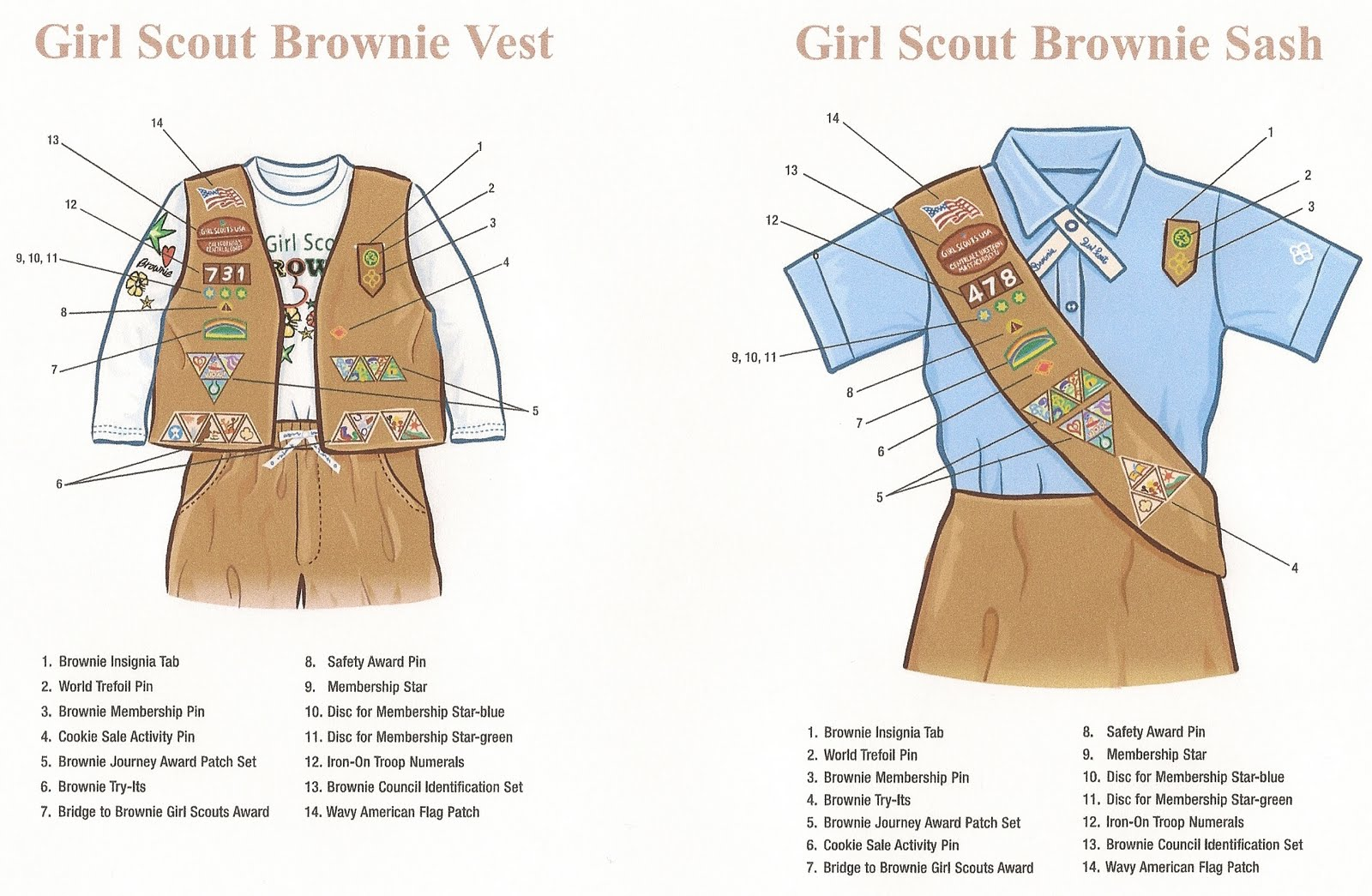 free coloring pages of brownies uniform