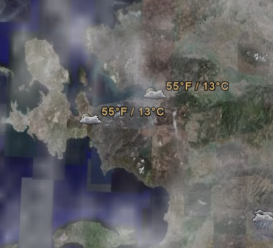 Hava durumu google earth te