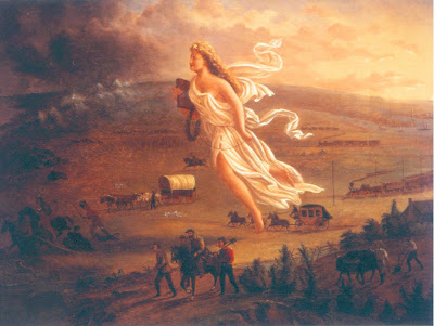 american progress by john gast American progress by john gast (1872) the painting was created in 1872, during which manifest destiny was a prevalent belief in the united states.