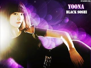 GIRLS' GENERATION- The power of 9! - Page 4 Yoona+Wallpaper+Black+Soshi