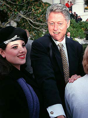 monica lewinsky and bill clinton. clinton monica lewinsky,
