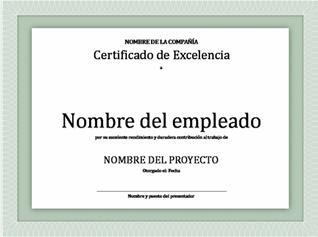 Descargar modelos, plantillas de Diplomas, Certificados o Premios