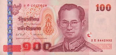 100 Baht banknote