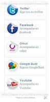 widget box redes sociais
