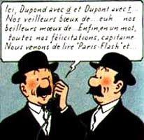 Le saviez-vous ? Comment différencier Dupond et Dupont, les amis de Tintin? Dupond-et-dupont-1
