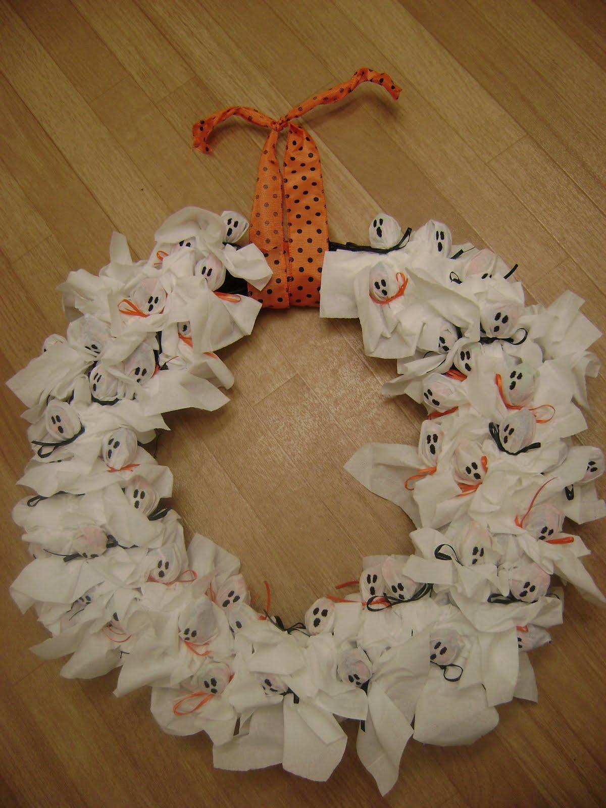 Sl Designs Diy Lollipop Ghost Wreath