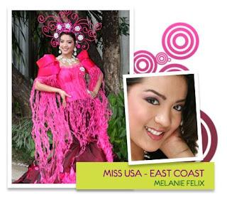 Miss PAGCOR International Tourism Ambassadress - Melanie Felix (Filipino communities in East Coast, USA)