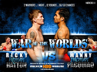 Manny 'Pacman' Pacquiao vs Ricky 'Hitman' Hatton official promotional fight posters