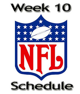 NFL Week 10 Schedule and Score Live Update