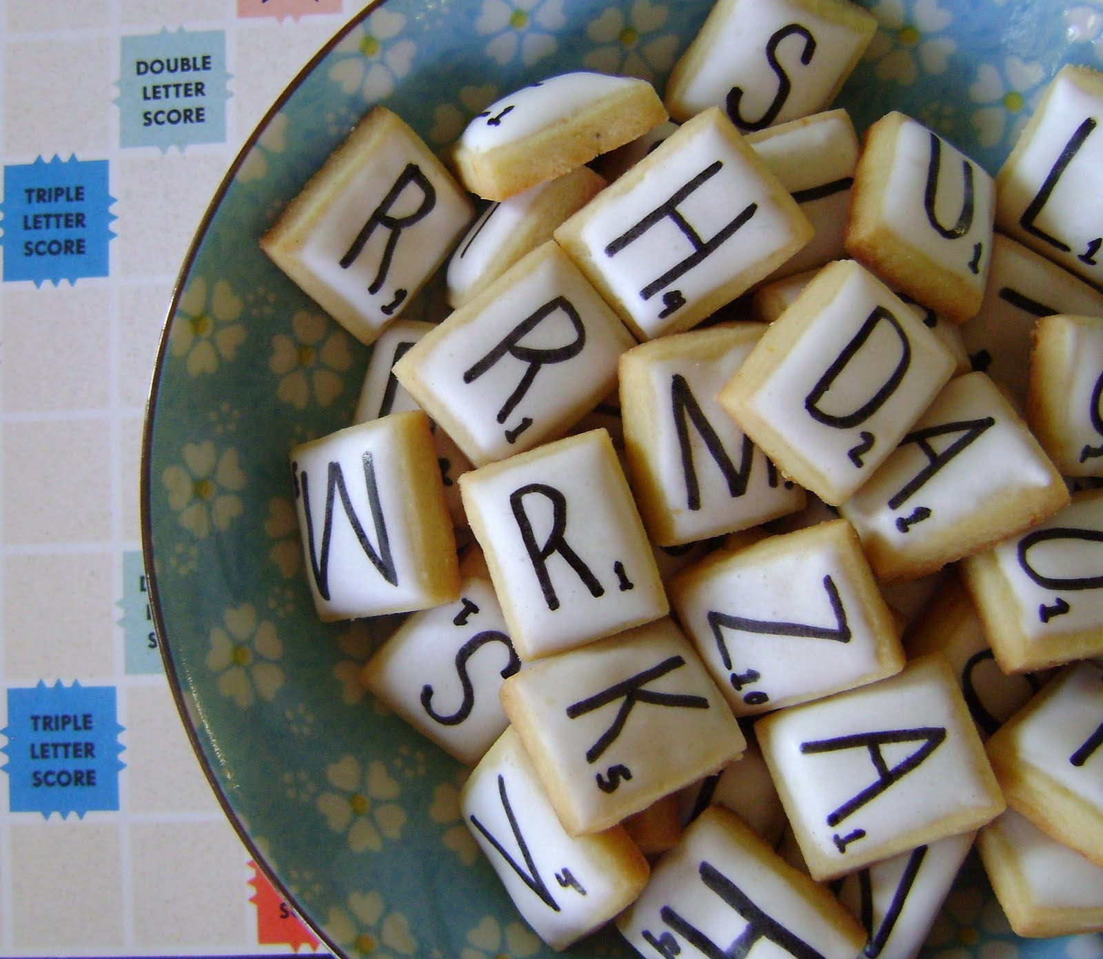 scrabble cookies actually these are