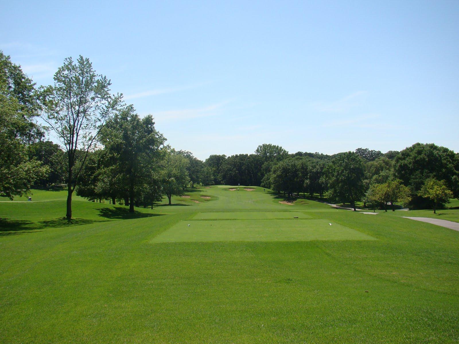 golf pic of the week cog hill course no 4 par 4 4th. Black Bedroom Furniture Sets. Home Design Ideas