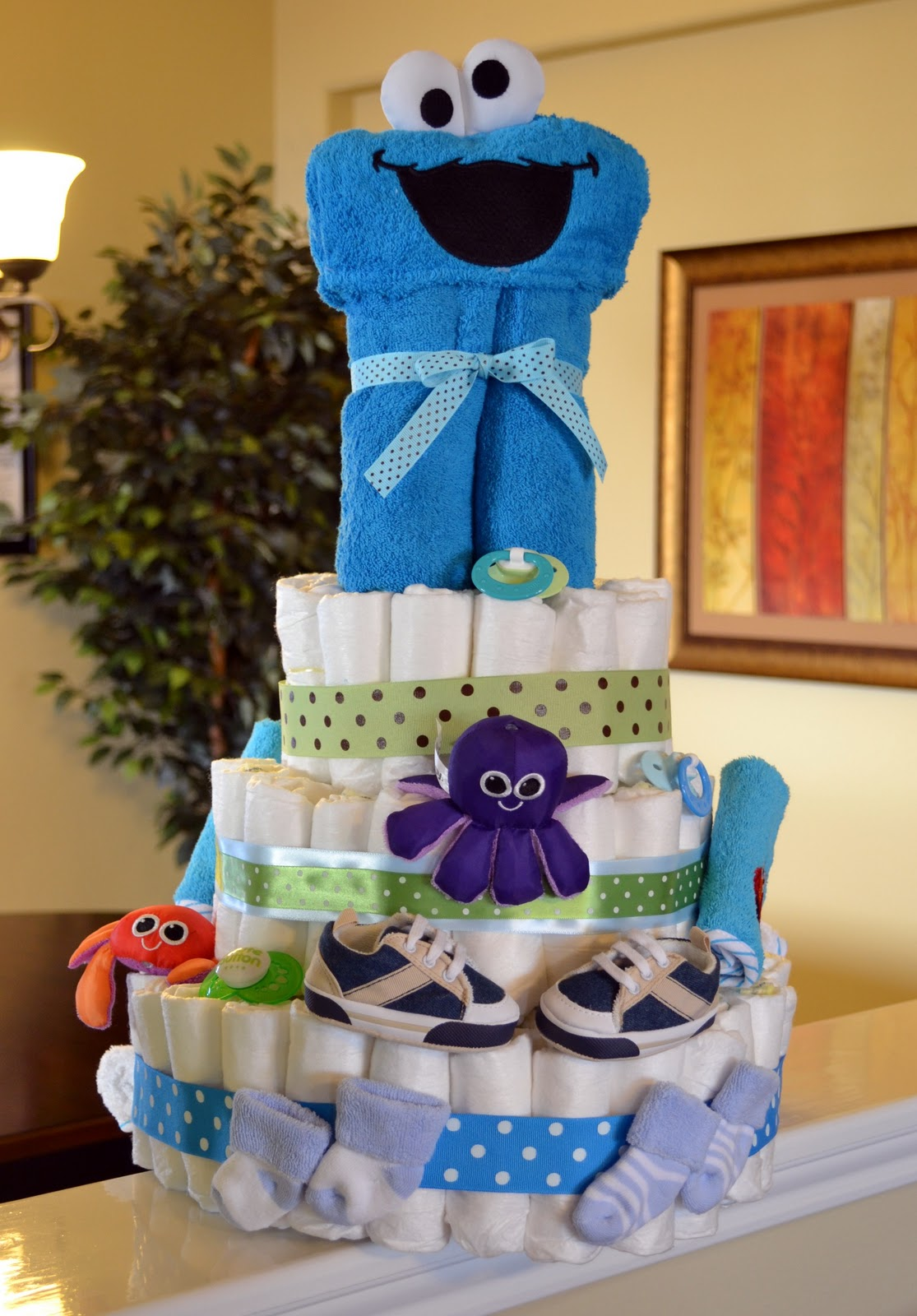 baby cookie monster baby shower