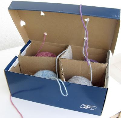 Qué ingenioso, para trabajar con varias lanas a la vez Spiral+box2