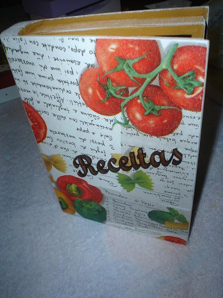 Porta Livro de Receitas - R$ 25,00