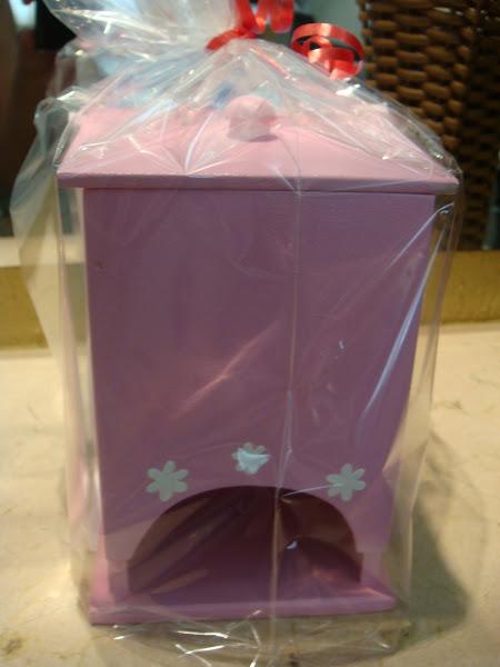Porta Absorente Rosa flores - R$ 20,00