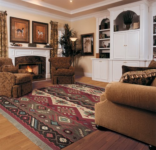 Southwest decor living room for Full room furniture design