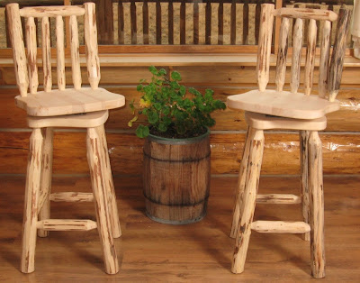 Beauteous-convinient-high-rustic-log-wooden-bar-stools-for-kitchen-furnishing