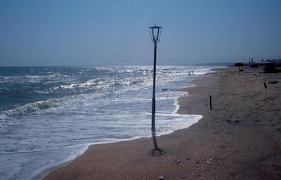 El nivel del mar caspio se alza en una imagen obtenida en la