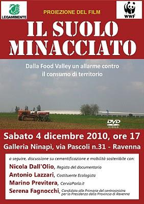 Locandina Il suolo minacciato a Ravenna