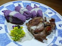 Purée violette aux lépiotes