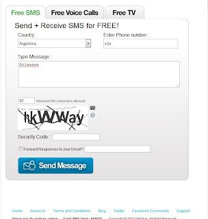Envía mensajes a cualquier teléfono gratis
