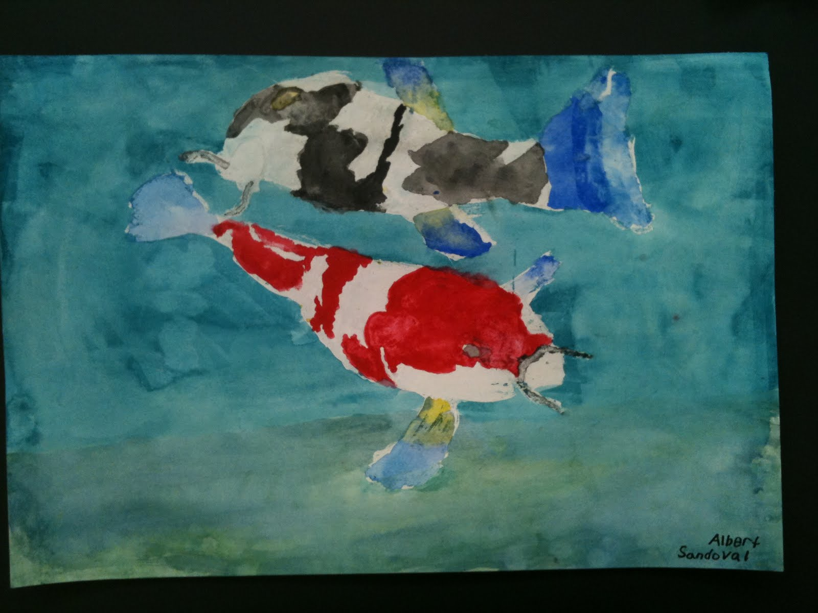 Visual art at william hall academy 2008 2011 japanese for Japanese koi carp paintings