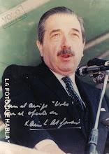 PTE. RAÚL RICARDO ALFONSÍN