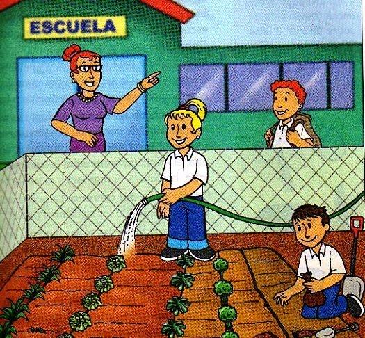 Dibujos para colorear de niños sembrando arboles - Imagui