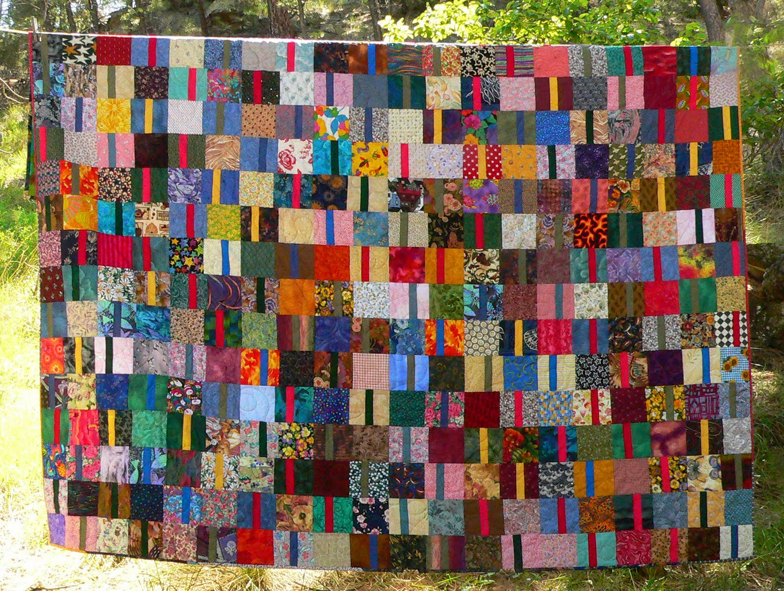 Living And Dyeing Under The Big Sky Scrap Quilt Wedding Gift
